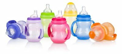Baby Feeding - Nuby - 3 Stage 8oz Wide Neck No Spill Bottle (1 Cup Only) 1107