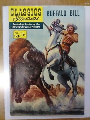 CLASSICS ILLUSTRATED  #106 comic book VG+ condition Buffalo Bill