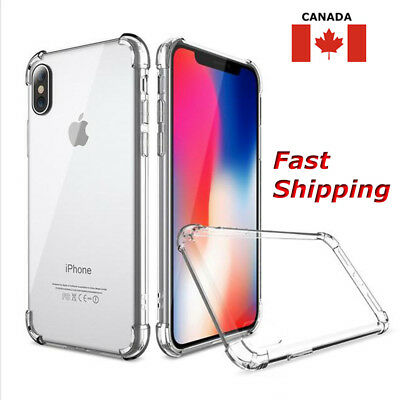 Clear Case Hybrid Slim Shockproof Soft TPU Bumper Cover For  iPhone XS 8 7 6S+