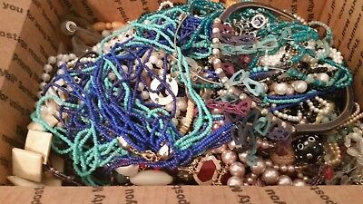 Huge Lot of Fun Mixed Vintage to Now Wearable/Broken Necklaces; 10+ lbs