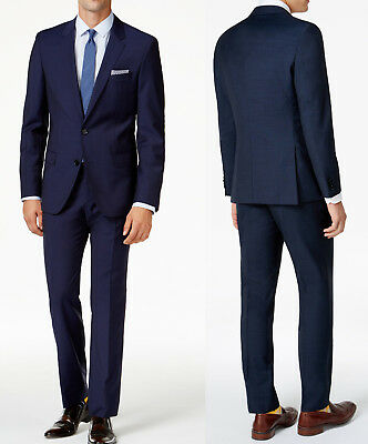 NWT HUGO Hugo Boss Red Label By Hugo Boss Tic Pattern Extra Slim Fit Suit