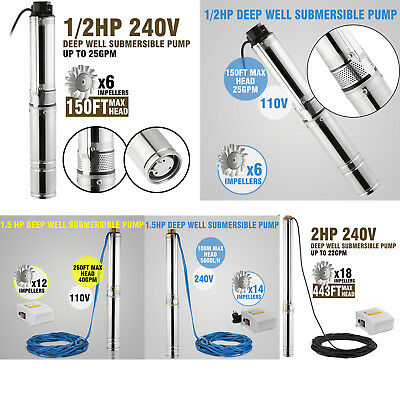 "4"" Borehole Pump Deep Well Pump Water Pump Submersible Pump Garden Pump Electric"
