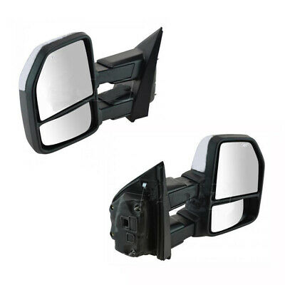 For 99-07 Ford F250-F550 Super Duty Excursion Tow Mirror Power Heated Chrome Cap