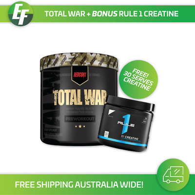 Redcon 1 Total War 30 Serve Pre Workout | Gym Fitness Weight Fat Loss Energy