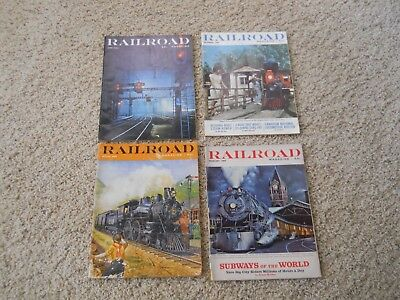 Vintage Railroad Magazines ~ Lot Of 4 Different