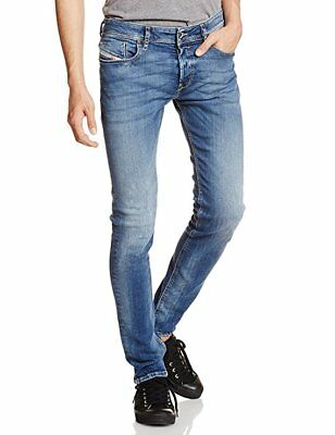 64f375c6 DIESEL Sleenker (Wash 084BE) Slim-Skinny Stretch Jeans Pants Blue Men's NWT