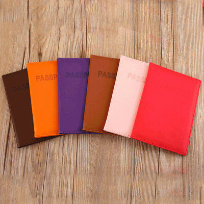 Fashion Leather Universal PU Travel Passport Holder Case Cover ID Card Organizer