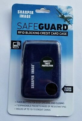 SHARPER IMAGE SAFEGUARD RFID Blocking Credit Card Case Wallet BLACK
