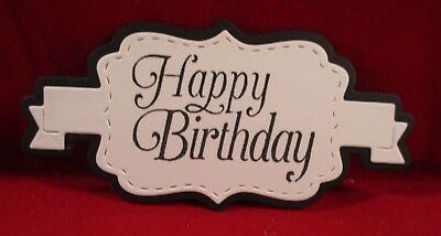 10 Happy Birthday Label Die Cuts.....style 1.........cardmaking
