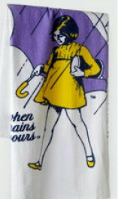 Vintage MORTON SALT GIRL extra large Towel Southern Terry 60 x 47 inches Sealed