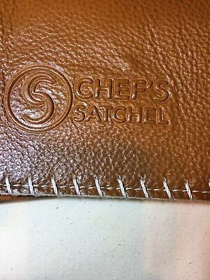 Chef's Satchel Handmade Kitchen Chef Knife Leather Bag Roll