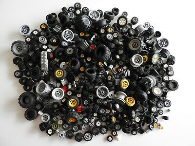 Lego Bulk Lot of mixed wheels and tyres Over 1.1kg Used Read Description
