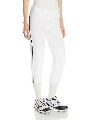 (X-Small, White/Black) - Mizuno Women's Select Belted Piped Pant. Huge Saving