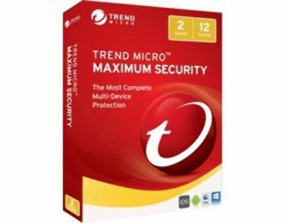 Trend Micro Maximum Security 2017-2 devices/1 yr - medialess