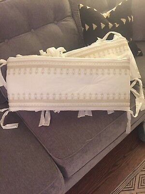 Gold Embroidered Pottery Barn Crib Bumpers