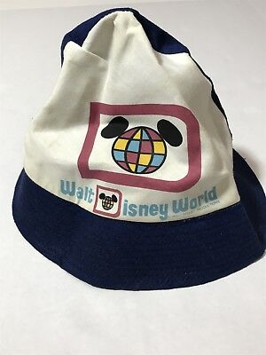 adb28968367 Vintage 1970s Walt Disney World Disneyland Bucket Beach Hat Vtg 70 80s 90s  Large