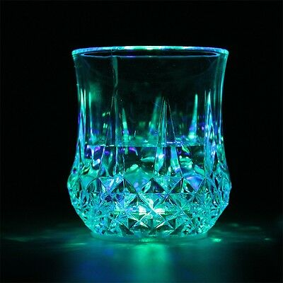 Party LED Flashing Glowing Water Liquid Activated Light-up Wine Glass Cup Mug