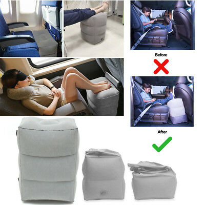 Inflatable Air Foot Rest Travel Pillow Cushion Case Office Car Home Leg Up Relax