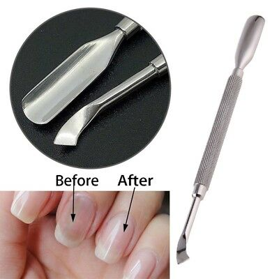 1PC Cuticle Pusher Stainless Steel Dead Skin 2Way Nail Art Manicure Tool