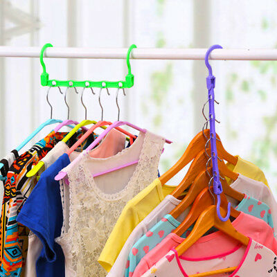 Multi Function​ Clothes Hangers Space Saving Closet Organizer Folding Hook Rack