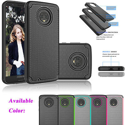Case For Motorola Moto G6 / G 6th Gen 2018 Armor Hybrid Rubber Hard Case Cover