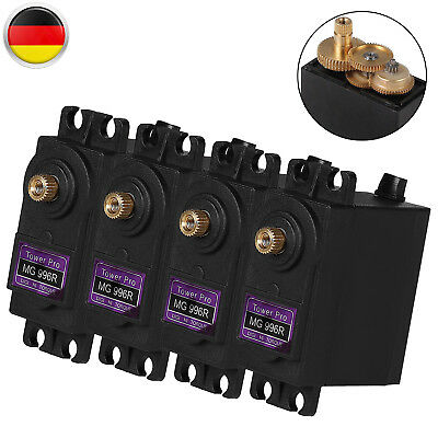 4x MG996R Digital Metall Gear RC Torque Lenk Servo Tower 12Kg/cm für JR 2C Auto