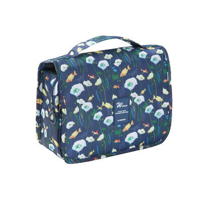 Portable Foldable Travel Storage Luggage Carry-on Hand Bags Blue goldfish