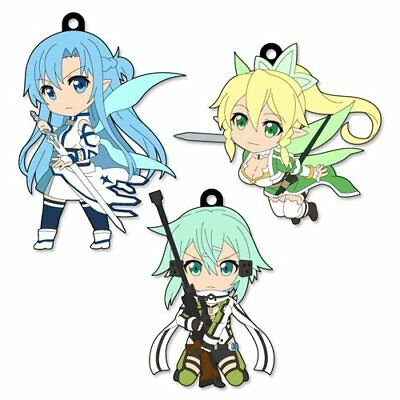 *NEW* Sword Art Online II: Real Rubber Pikuriru! Avatar Trading Straps Cell Ph