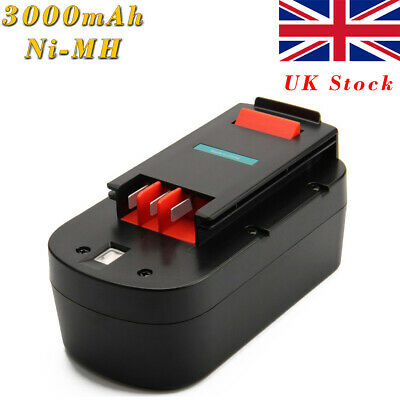 3000mAh 18V Battery For Black & Decker 244760-00 A1718 Firestorm HPB18 A18 Ni-MH