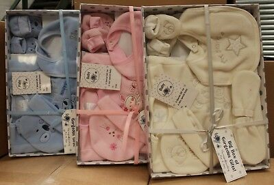 10 x 6PC Baby Gift Set Pink Blue Cream Wholesale Clearance Stock Job Lot New