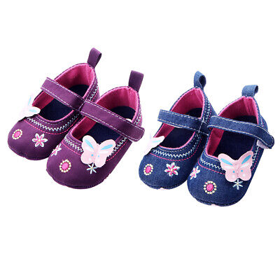 Infant Newborn Baby Girl Soft Sole Crib Shoes Anti-slip Pram Prewalker Sneakers