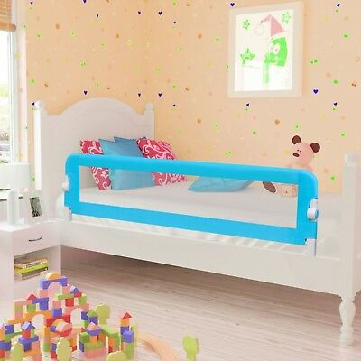 Baby Safety Bed Rail 150x42cm Blue Foldable Protection Beds Guard