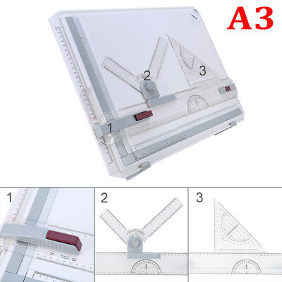 A3 Office Drawing Board Table Top Architect Technical Design Magnetic Bar Kits