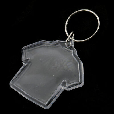 20PCS/PACK Clothes Shape Blank Insert 45mm DIY Photo Picture Frame Key Chain