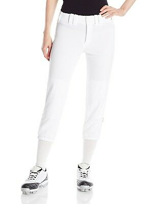 (Medium, White / Navy) - Mizuno Women's Select Belted Piped Pant. Brand New