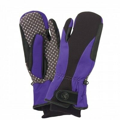 (Small, Black Purple) - Ovation Vortex Winter Mitten. Delivery is Free