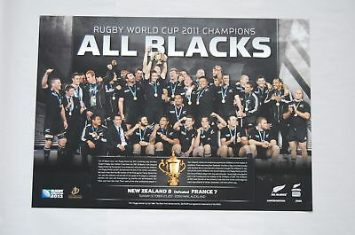 New Zealand All Blacks Rugby World Cup 2011 Champions Celebration Print