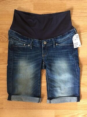 H&M Maternity Denim Shorts Size 10 New With Tags