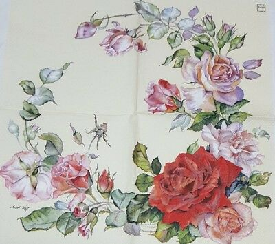 3 paper napkins for decoupage /parties/wedding