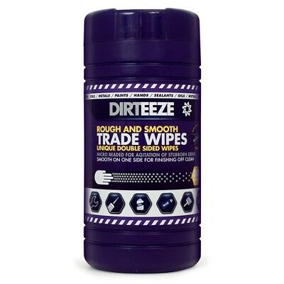 Dirteeze Rough and Smooth Trade Wipes Tub of 80
