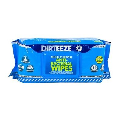 Dirteeze Anti-Bacterial Wipes Soft Pack of 200