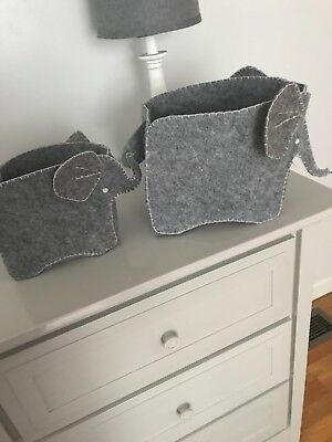 Pottery Barn changing table holders-elephant