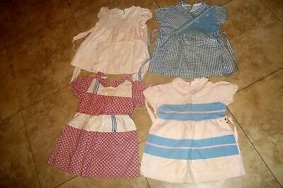 Childrens  Vintage Clothing~Group of 4 Little Girls Dresses