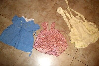 Childrens Vintage Clothing~ Group of Three~ Dress and Sun Suits