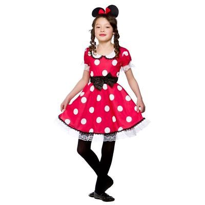 Girls Cute Mouse Girl Animal Outfit - (Red)