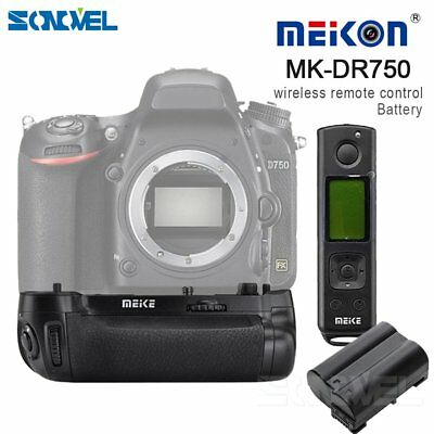 Meike MK-DR750 2.4g Wireless Control Battery Grip for NiKON D750+EN-EL15 Battery