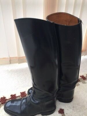 Ladies Regent Long Leather Riding Boots - Size 7.5