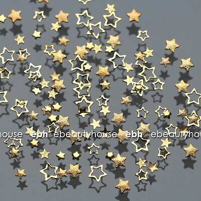 120 Pcs Stars Frame Collection Alloy Nail Art Decoration Accessories #E1122