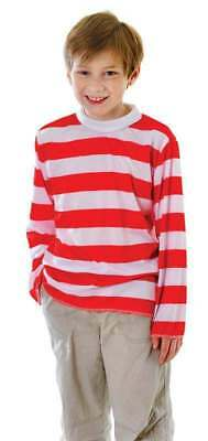 Childs Unisex Red/White Striped Top Striped Outfit