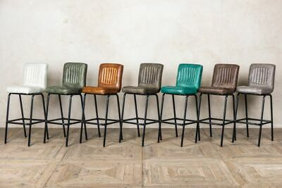 Leather Bar Stools Breakfast Bar Stools Three Colours Matching Chairs Available